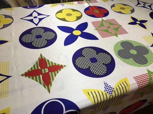 French Designer Silk Stretch Fabric Flowers