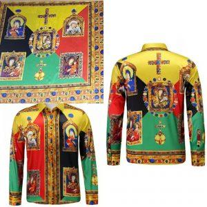 Italian Designer Silk Madonna Pattern Fabric