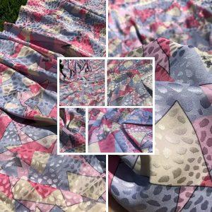 Valentino Silk Satin Brocade Devore Fabric/colour #1 pink/Haute Couture Fabric 2021