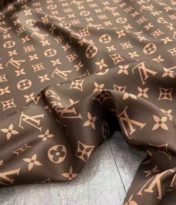 Vuitton silk fabric