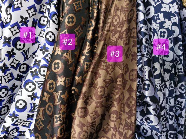 French Designer Silk polyester logo