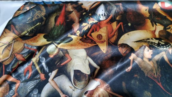 """20210126 173119 scaled Pieter Bruegel the Elder """"The Fall of the Rebel Angels"""" Digital Paint on Pure heavy silk.Fabric for outwear 5"""