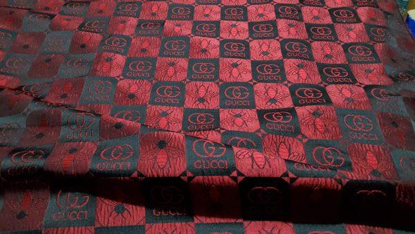 Gucci jacquard bee design fabric