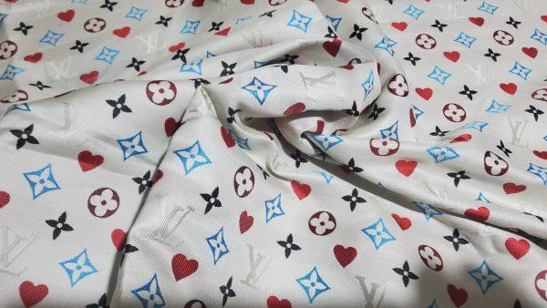 20210306 204519 scaled French Designer Monogram Cotton Linen Jacquard/2021 Fashion week suit,jacket,skirt,dress Fabric 1