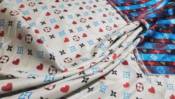 20210306 204546 scaled French Designer Monogram Cotton Linen Jacquard/2021 Fashion week suit,jacket,skirt,dress Fabric 4