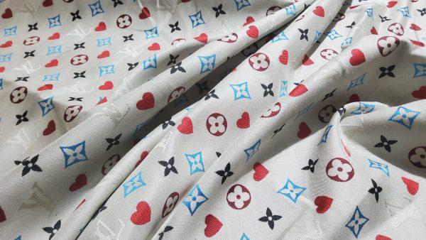 20210306 204552 scaled French Designer Monogram Cotton Linen Jacquard/2021 Fashion week suit,jacket,skirt,dress Fabric 5