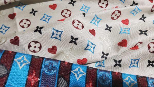 20210306 204606 scaled French Designer Monogram Cotton Linen Jacquard/2021 Fashion week suit,jacket,skirt,dress Fabric 7
