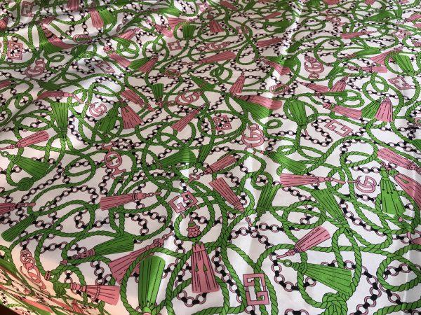 Exclusive Gucci silk fabric