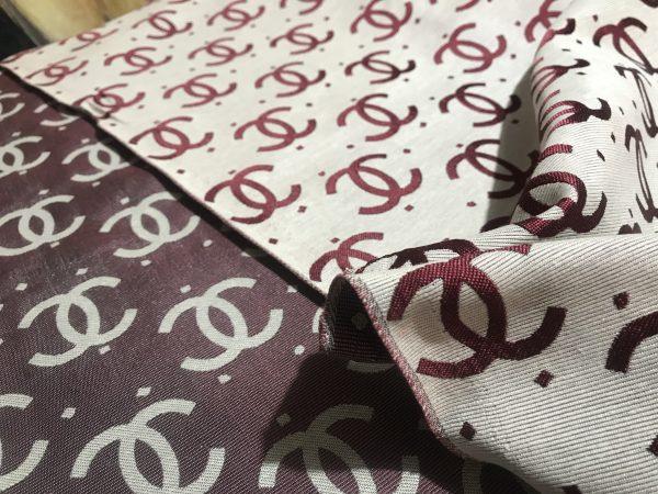 French Designer Jacquard fabric logo