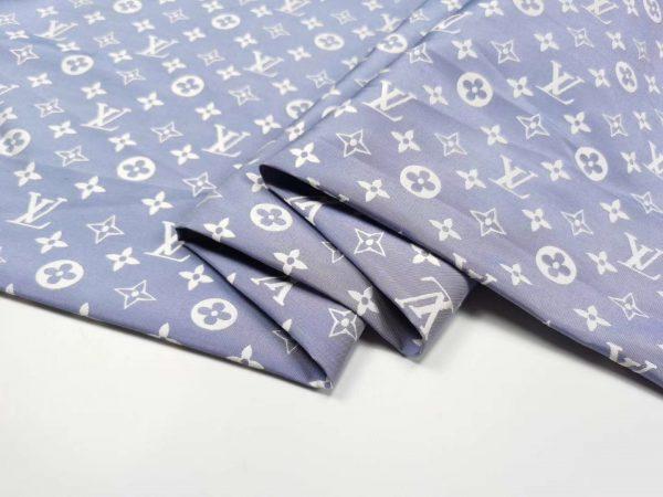 French Designer Monogram Cotton Jacquard
