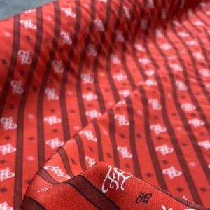 Fendi fabric silk stretch crepe/2020 Fendi silk fabric for clothing