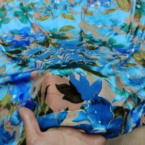 Emanuel Ungaro Velvet Silk Fabric/Burnt out velvet fabric fashion week
