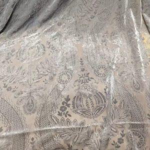 Emanuel Ungaro Mulberry Silk devore fabric/Italian fashion week burnt out velvet Mulberry Silk