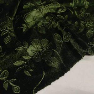 Italian elastic embossed velvet fabric/Devore couture fabric/colour #2