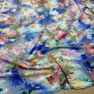 Emanuel Ungaro stretch fabric burnt out velvet fabric/Silk Velvet Devore Fabric