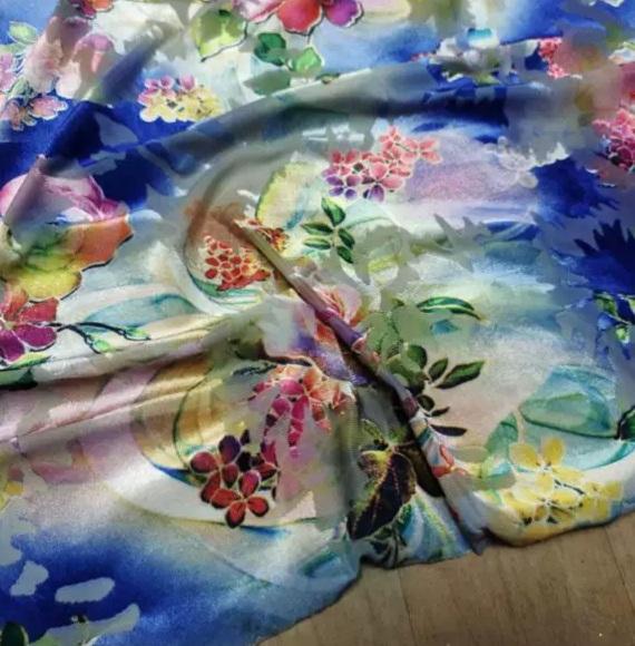 Silk Velvet Devore Fabric