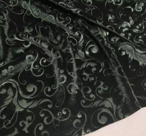 Emanuel Ungaro Devore silk burnt out velvet fabric