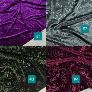 Emanuel Ungaro Devore silk burnt out velvet fabric in various colours