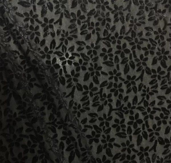Emanuel Ungaro fabric burnt out silk velvet