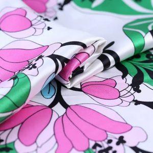 Emilio Pucci silk satin digital inkjet/Catwslk 2020 silk fabric/Italian designer silk fabric