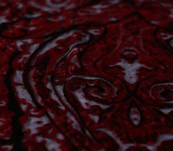 Emanuel Ungaro Silk burnt out velvet fabric