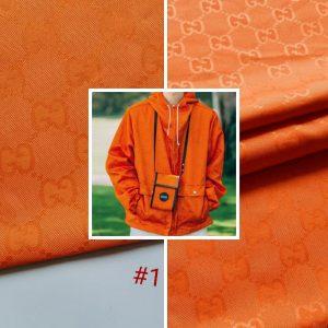 Gucci fabric Bologna Cotton polyester in various colours/Colour #1 Orange