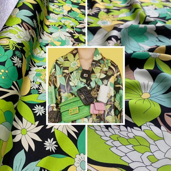 Fendi silk stretch fabric