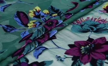 Emanuel Ungaro devore silk velvet floral pattern fabric/colour #1 deep emerald base 1 ⋆ Rozitta Rapetti