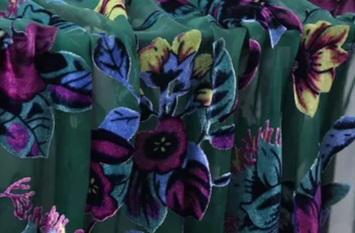 Emanuel Ungaro devore silk velvet
