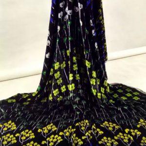 Emanuel Ungaro Silk velvet couture fabric/Exclusive Luxury Limited edition fabric