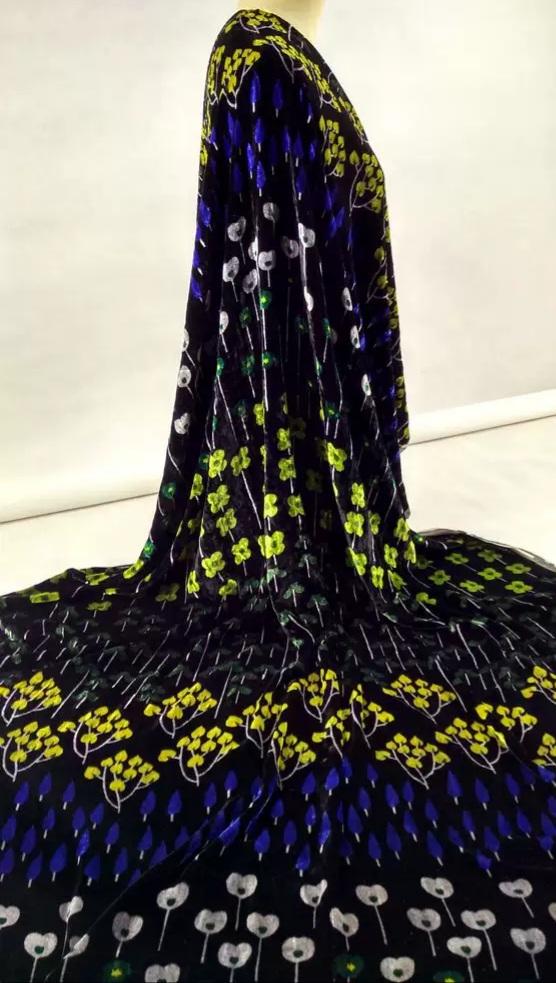 Emanuel Ungaro Silk velvet couture fabric