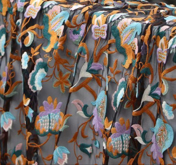Oscar De La Renta mesh fabric