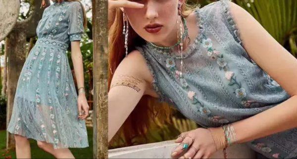 Alberta Ferretti fabric Exclusive lace