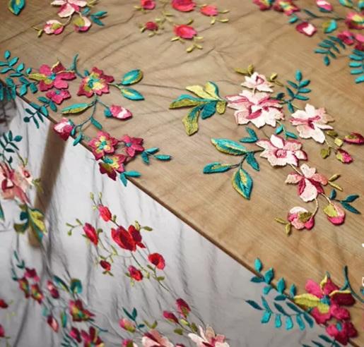 Oscar De La Renta mesh silk