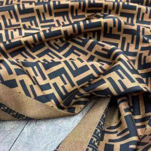 Fendi silk twill fabric