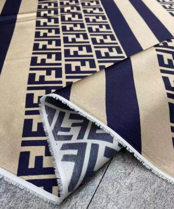 Fendi fabric twill silk