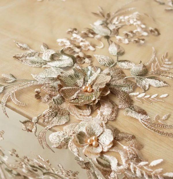 Elie Saab mesh silk Fabric