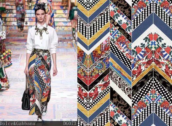 Italian Designer patchwork silk fabric/Exclusive limited edition collection Haute Couture Fabric 1 ⋆ Rozitta Rapetti