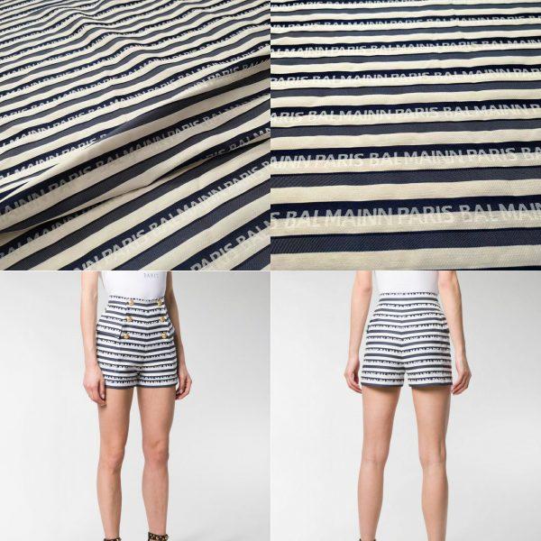 Balmain fabric for clothing