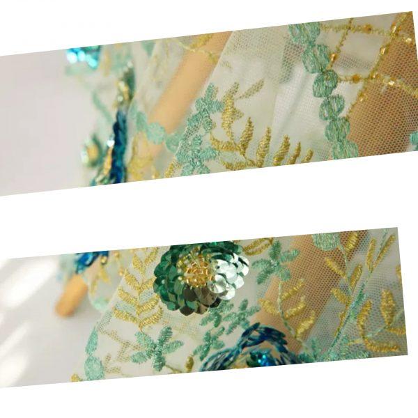Elie Saab mesh silk
