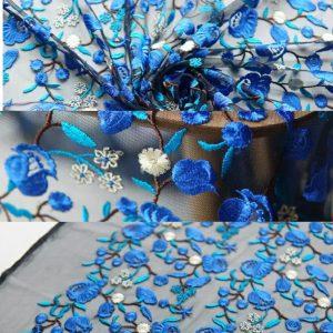 Alberta Ferretti dyed yarn embroidery fabric/By Preorder only