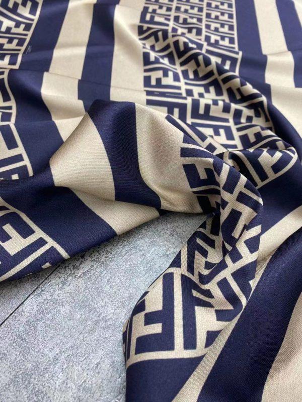 New Fendi fabric twill silk logo and stripes/Exclusive limited quantity/2020 Fendi 2