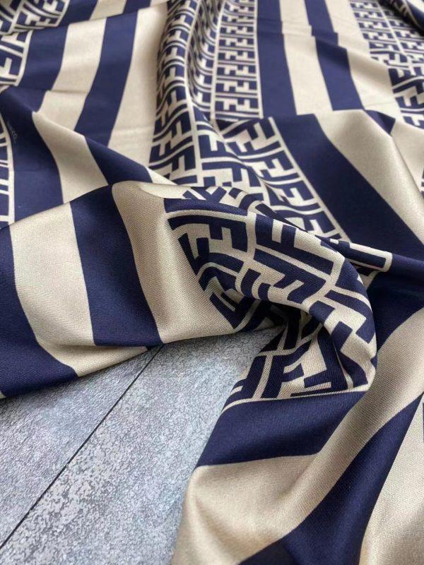New Fendi fabric twill silk logo and stripes/Exclusive limited quantity/2020 Fendi 1