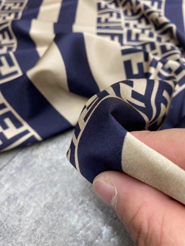 New Fendi fabric twill silk logo and stripes/Exclusive limited quantity/2020 Fendi 3