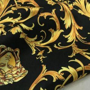 Versace Fabric Medusa Silk fabric/Versace Baroque silk stretch fabric