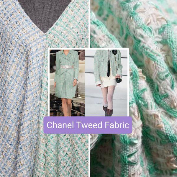 French Designer Tweed Fabric