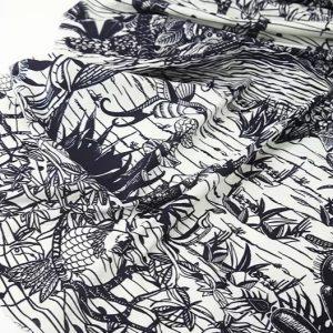 Dior Cruise 2020 cotton fabric/Italian pure cotton Fashion Week Fabric