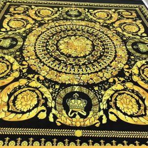 VERSACE Baroque Pattern Print Fashion Week Designer Fabric/Italian Couture Fabric Digital Print Baroque Ornament