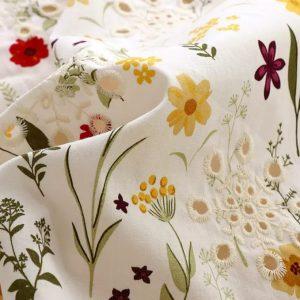Oscar De La Renta cotton embroderie fabric for summer clothing /Italian Designer Cotton fabric