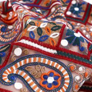 Oscar De La Renta 2021 fabric embroidery on silk fabric,exclusive!